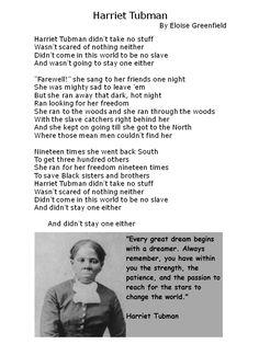 Harriet Tubman | Devoted to Vocabulary Development