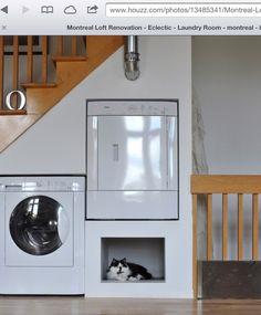 Laundry placement idea.