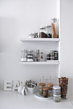 Kitchen shelves. Spices & jars. (Dora iz Londona)