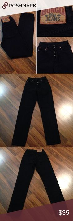 Vintage Bongo Button Fly Jeans Refer to pictures for description and measurements. Tagged a Size 1. In great vintage condition. Please ask any questions before purchasing. Thank you BONGO Jeans Straight Leg