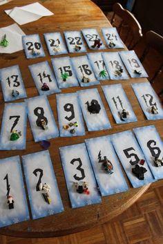 DIY Lego Harry Potter Advent Calendar / Countdown to Christmas via ericvr.com