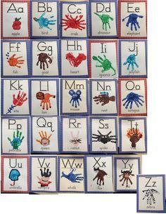 Handprint Classroom Alphabet