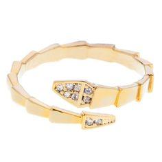 Gold Diamante Snake Ring                                                                                             £15.00