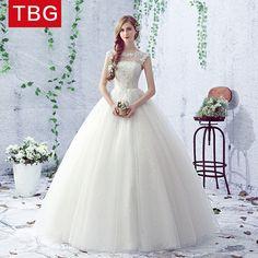 Wedding dress 2017 new bride summer simple shoulder wedding dress Qi word princess married new arrival female