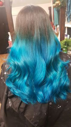 My blue ombre hair