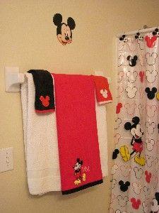 Minimalistic Mickey Mouse Set Of Three Canvas Paintings 30 00 Via Etsy For Bathroom Decor Pinterest