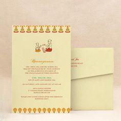 Marigold Finery: Red Thread Ceremony Invitation Cards , E ...