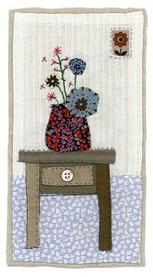 Sharon Blackman: more owls & pears! Freehand Machine Embroidery, Free Motion Embroidery, Free Machine Embroidery, Embroidery Applique, Applique Patterns, Applique Quilts, Applique Designs, Fabric Postcards, Fabric Cards