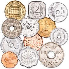 Set of 12 Odd-Shaped World Coins