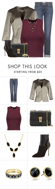 """""""Saturday Night"""" by houston555-396 ❤ liked on Polyvore featuring Paige Denim, Pianurastudio, T By Alexander Wang, Valentino, Lana, Sergio Rossi, Fornash and Trina Turk"""