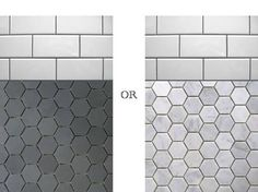 Black And White Hexagon Bathroom Tile Hexagon Tile Bathroom Floor. Grey For  Shower, White For Bathroom Floor. Part 67