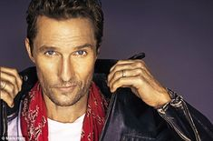 Good time guy: McConaughey is an enthusiastic conversationalist although his thoughts emer...