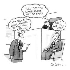 """Premium Giclee Print: Courtroom scene of judge, witness on witness stand, and lawyer. Judge thi…"""" - New Yorker Cartoon by Leo Cullum : Lawyer Quotes, Lawyer Humor, Law School Humor, School Jokes, Work Jokes, Work Humor, Prison Humor, Legal Humor, Law And Justice"""
