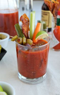 Spicy Southwest Bloody Mary~ Thyme for Cocktails   Spicy Southwest Blood Mary mix with green chilies, jalapeno and touch of agave nectar.  #V8EnergyBoost #ad #cbias