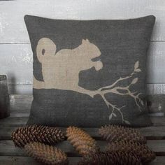 ' Grey Squirrel ' Cushion
