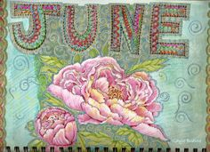 June 2012 Botanical Sketch a Day spread.