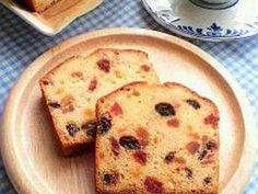 ドライフルーツのパウンドケーキの画像