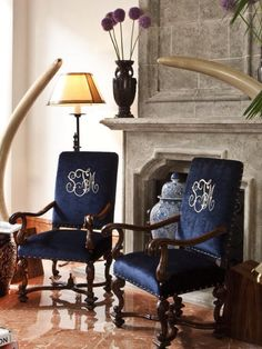 Flanders Arm Chairs by @ebanistacollect. Interior Design  by Steven Autry Interiors.