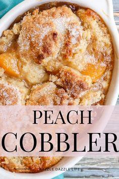 13 Desserts, Summer Dessert Recipes, Delicious Desserts, Yummy Food, Great Desserts, Plated Desserts, Southern Peach Cobbler, Peach Cobbler Recipes, Home Made Peach Cobbler