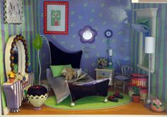 American Girl AG Minis The Purple Room  Timely Little Things The Ribbon Board
