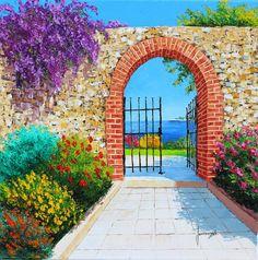 """""""The garden of the sea"""" 50x50 cm Jean-Marc Janiaczyk"""
