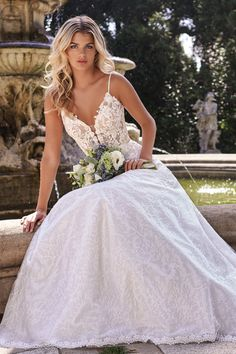 #JasmineBridal #Collection #F221016  #laceballgown #alinegown Mothers Dresses, Girls Dresses, Flower Girl Dresses, Dream Wedding Dresses, Wedding Gowns, Jasmine Bridal, Lace Ball Gowns, A Line Gown, Wedding Lingerie