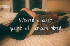 Without a doubt love quotes cute couples happy bed dream cuddle
