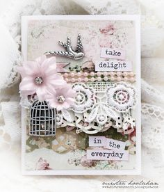 Mistra Hoolahan: Take Delight Card - Handmade Halo