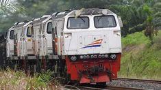 HANYA DI SUMATRA kereta api 60 gerbong full muatan 3000 ton