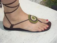 Crochet Sandal... Now I just need a pattern...