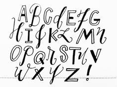 """""""black strip"""" alphabet // #doodle"""