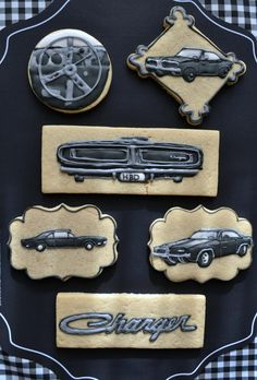 1969 Dodge Charger Cookies // Sweet Ellie Belle Cookies | Cookie Connection