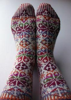 Ravelry: snoozeecow's Snowflake Socks