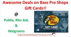 Awesome Bass Pro Shops Gift Card deals at Publix, Rite Aid and Walgreens. These Gift Cards will make great Fathers Day Gifts. Make sure you grab yours before next Sunday!!  Click the link below to get all of the details ► http://www.thecouponingcouple.com/bass-pro-shops-gift-cards/ #Coupons #Couponing #CouponCommunity  Visit us at http://www.thecouponingcouple.com for more great posts!