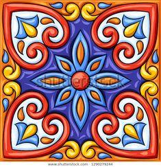 Узоры, Образец Искусства, Мексиканский Узор, Керамика Талавера, Мексиканское Народное Искусство, Цветочные Иллюстрации, Мексиканская Керамика, Марокканское Искусство