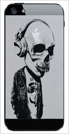 Welsh artist and designer, Rhys Owens aka Hidden Moves produces these great digital art prints on mm x mm) matte archival paper with Ultrachrome UV resistant inks. The artworks ar Images Graffiti, Illustrations, Illustration Art, Skull Headphones, Music Headphones, Design Graphique, Skull And Bones, Skull Art, Wiccan