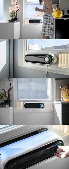 However ugly they are, window air conditioning units can be a total lifesaver for those without central built-in AC. Read more at Yanko Design Noria Window Air Conditioner by Devin Sidell Design Innovation, Home Gadgets, Usb Gadgets, Camping Gadgets, Electronics Gadgets, Kitchen Gadgets, Bedroom Gadgets, Travel Gadgets, Air Conditioning Units
