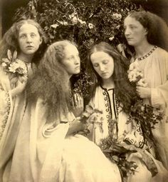 Julia Margaret Cameron: The Rosebud Garden 1868.