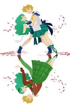 ravennowithtea:  Sailor Uranus x Sailor Neptune / Haruka x...