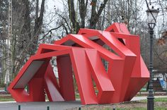 Urban Sculpture / Rok Grdisa / Info point in park Tivoli in Ljubljana Slovenia