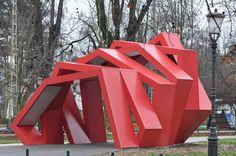 Urban Sculpture / Rok Grdisa / Info point in park Tivoli in Ljubljana Slovenia
