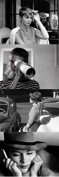 À bout de souffle Director: Jean-Luc Godard Actriz: Jean Seberg Jean Seberg, Pier Paolo Pasolini, French New Wave, Fritz Lang, Jean Luc Godard, French Movies, Film Inspiration, Gena Rowlands, Film Stills