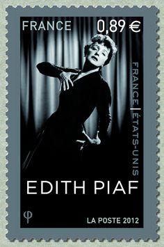Zoom sur le timbre «Edith Piaf Emission commune France - Etats-Unis»