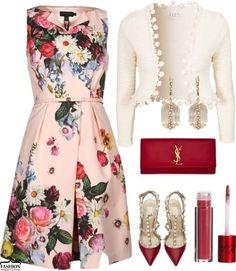 С чем сочетать платья с цветочным принтом 5