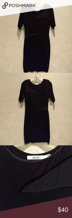 Peekaboo body con Bailey 44 dress Black cotton stretchy Bailey 44 dress with peekaboo mesh cutouts. Very sleek. Bailey 44 Dresses Midi