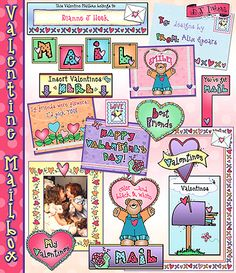 You can SAVE 20% on DJ's 'Valentine Mailbox' download during our Love Letters Sale! All of the designs included in this set will help you create a darling mailbox, Valentine cards, frames, notes & MORE! (Sale ends 1/21/15)