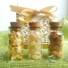 Gold, frankincense and Myrrh. Christmas gifts of the magi. Three wise men. by EarthChildCrystals.