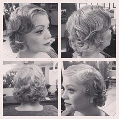 Finger wave,  on wet hair technique then allowed to dry