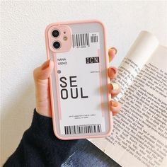 Boarding Pass iPhone Cases - For iphone 12ProMax / Pink