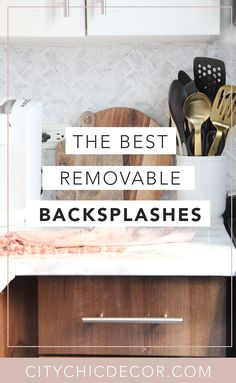 If you live in a rental home and struggle decorating it, you need to know about these removable peel & stick backsplashes. You can use these from your kitchen to your bathroom! Removable Backsplash, Peel Stick Backsplash, Rental House Decorating, Studio Apartment Decorating, Quirky Home Decor, Cheap Home Decor, Eclectic Decor, Coastal Decor, Rental Makeover